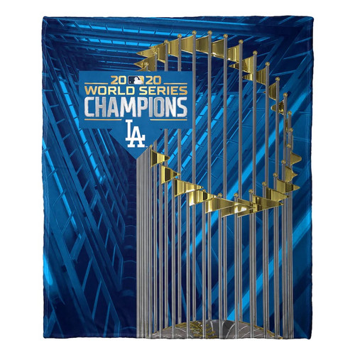 """Los Angeles Dodgers The Northwest Company 2020 World Series Champions 50"""" x 60"""" Silk Touch Throw Blanket"""