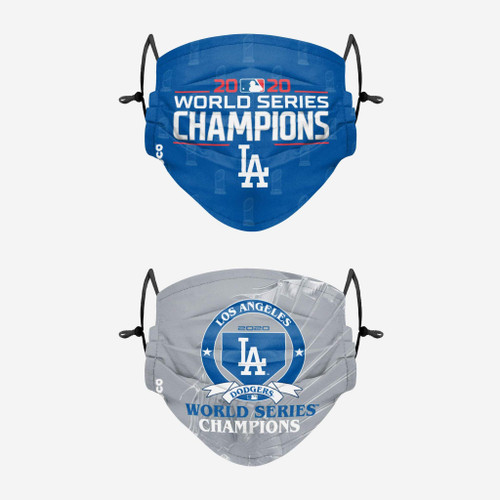 Los Angeles Dodgers World Series Champions Adjustable 2 PACK Face Cover Guard Mask Facemask