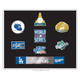 Los Angeles Dodgers 7X World Series Champions 7-Piece Boxed Lapel Pin Set - Limited Edition