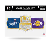 Los Angeles Dodgers and Lakers 2020 City of Champions Team Car Magnet Set