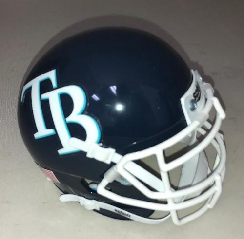 Tampa Bay Rays Schutt MLB Mini FOOTBALL Helmet