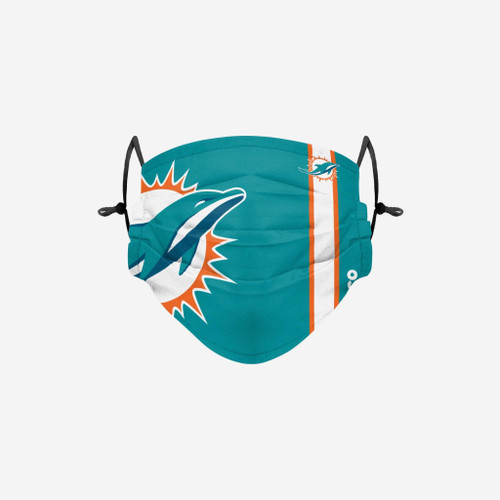 Miami Dolphins NFL Official On-Field Sideline Logo Team Face Mask Cover Facemask