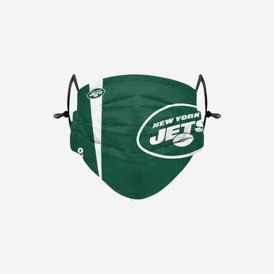 New York Jets NFL Official On-Field Sideline Logo Team Face Mask Cover Facemask