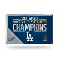 Los Angeles Dodgers 2020 World Series Champions 3 x 5 Foot Single Sided Banner Flag with Grommets