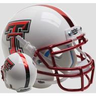 Texas Tech Red Raiders Guns Up Chrome Red Mask Schutt Mini Authentic Football Helmet