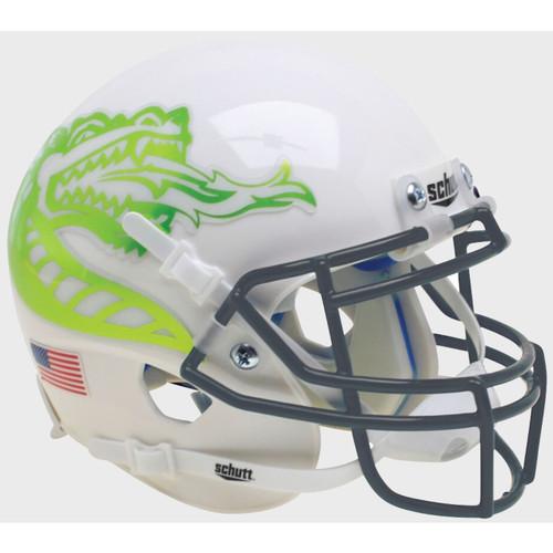 UAB Alabama-Birmingham Blazers White with Lime Chrome Dragon Schutt Mini Authentic Football Helmet