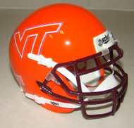 Virginia Tech Hokies Alternate VT Schutt Mini Authentic Football Helmet