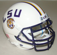 LSU Tigers Alternate White Schutt Mini Authentic Football Helmet