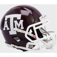 Texas A&M Aggies Maroon NCAA Riddell SPEED Mini Football Helmet