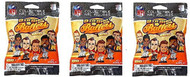 Party Animal NFL Big Shot Ballers Minifigs Series 1 Collectible Figurines Mystery Packs (3 Packs)