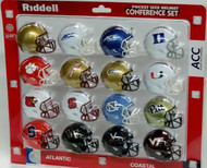 NCAA ACC Pocket Pro Speed Revolution Mini Helmets Set by Riddell - 2016 Version