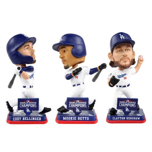 MLB Los Angeles Dodgers 2020 World Series Champions Mini Bobbleheads 3-pack Set