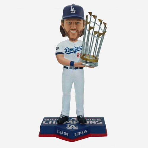 "Clayton Kershaw Los Angeles Dodgers 2020 World Series Champions 8"" Bobblehead Bobble Head Doll"