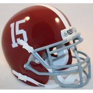 Alabama Crimson Tide #15 Schutt Mini Authentic Helmet