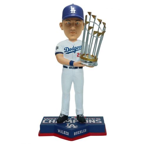 "Walker Buehler Los Angeles Dodgers 2020 World Series Champions 8"" Bobblehead Bobble Head Doll"