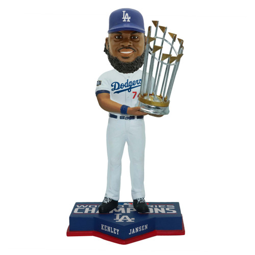 "Kenley Jansen Los Angeles Dodgers 2020 World Series Champions 8"" Bobblehead Bobble Head Doll"