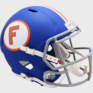 Florida Gators Matte Blue Throwback NCAA SPEED Riddell Full Size Replica Football Helmets