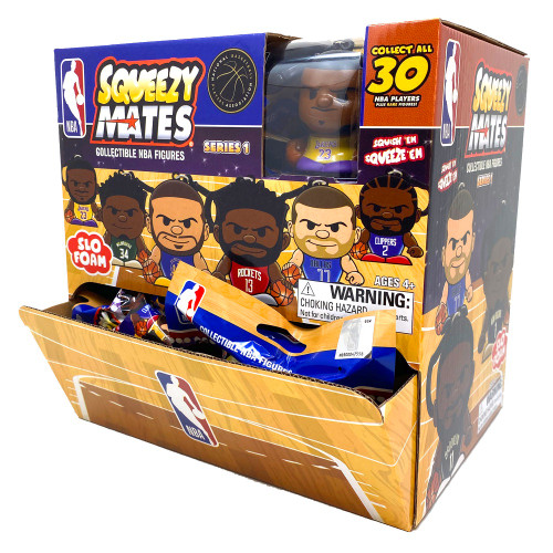 SqueezyMates NBA Gravity Feed Figurines Mystery Box (24 packs) SERIES 1