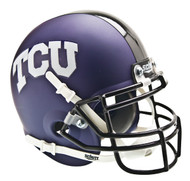 TCU Texas Christian Horned Frogs Alternate Matte Purple Schutt Mini Authentic Helmet