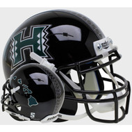 Hawaii Rainbow Warriors Alternate Islands Schutt Mini Authentic Football Helmet