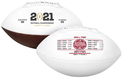 Alabama Crimson Tide 2021 College Football Playoff CFP National Champions Full Sized Football