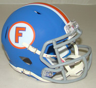 Florida Gators Matte Blue Throwback Limited Edition Revolution SPEED Mini Football Helmet