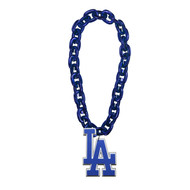 Los Angeles Dodgers MLB Fan Chain 10 Inch 3D Foam Magnet Necklace Blue