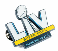 Super Bowl LV (55) Commemorative Lapel Pin - Tampa Bay 02.07.21
