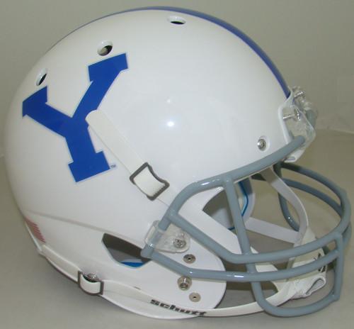 Brigham Young BYU Cougars Alternate White Schutt Full Size Replica Football Helmet