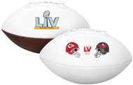 Super Bowl LV (55) Official Full Size Tampa Bay Buccaneers vs. Kansas City Chiefs Dueling Football