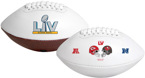 Super Bowl 55 Dueling Youth Size Football Kansas City Chiefs vs. Tampa Bay Buccaneers - RAWLINGS YOUTH SIZE