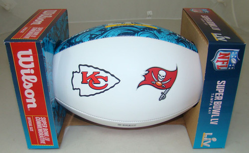 NFL Wilson Official Super Bowl LV 55 Commemorative Dueling Full Size Football - Chiefs vs. Buccaneers