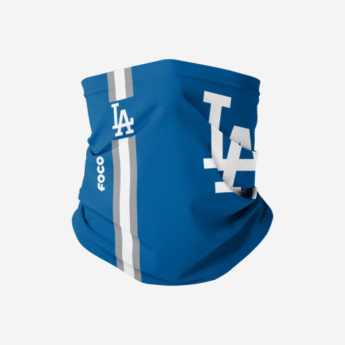 Los Angeles Dodgers MLB On Field Gameday Neck Gaiter Big Logo Scarf Face Guard Mask Head Covering