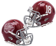 Alabama Crimson Tide College Football Playoff 2020 National Champions Revolution Speed Mini Football Helmet