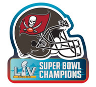 Tampa Bay Buccaneers Super Bowl LV 55 Champions Football Helmet Magnet