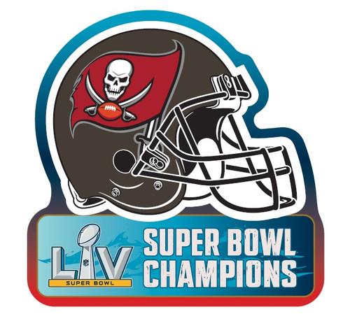 Tampa Bay Buccaneers Super Bowl LV 55 Champions Football Helmet Magnet