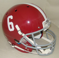 Alabama Crimson Tide #6 Schutt Full Size Replica Football Helmet