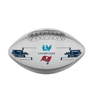 Tampa Bay Buccaneers Super Bowl LV 55 Champions Commemorative Metallic Football