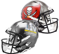 Tampa Bay Buccaneers Super Bowl 55 LV Champions Speed Replica Full Size Football Helmet