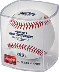 Atlanta Braves 150th Anniversary Commemorative MLB Official Baseball in Cube