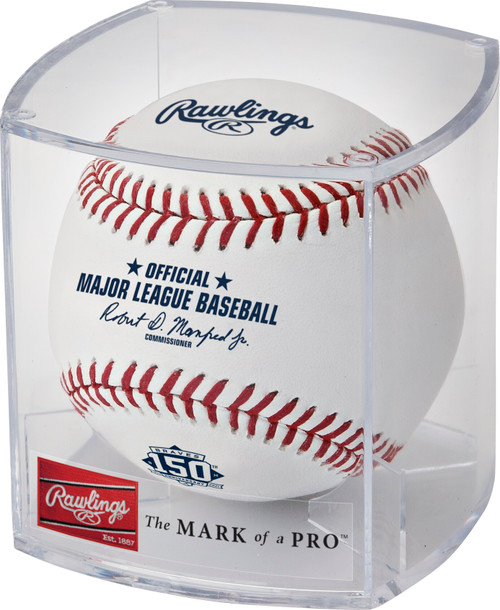 Atlanta Braves 150th Anniversary Commemorative MLB Official Baseball in Cube