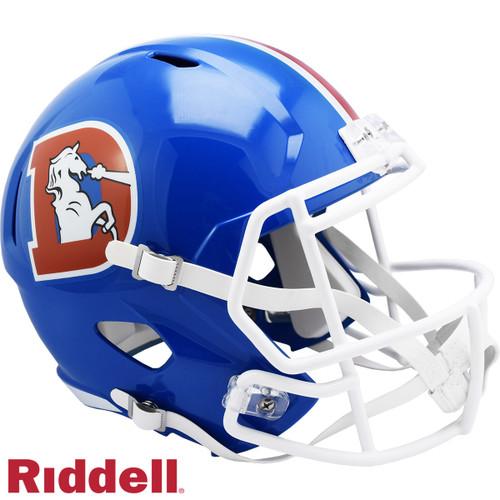 Denver Broncos 1975 to 1996 Throwback SPEED Riddell Full Size Replica Football Helmet