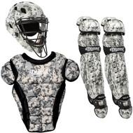 Diamond iX5 Intermediate Baseball Catcher's Gear Package - Green Camouflage