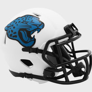 Jacksonville Jaguars Lunar White Revolution Speed Mini Football Helmet