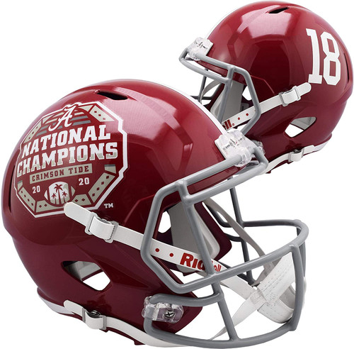 Alabama Crimson Tide College Football Playoff 2020 National Champions Revolution Replica Speed Full Size Football Helmet