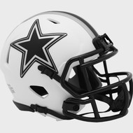 Dallas Cowboys Lunar White Revolution Speed Mini Football Helmet
