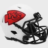 Kansas City Chiefs Lunar White Revolution Speed Mini Football Helmet