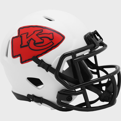 Kansas City Chiefs Lunar White Revolution Speed Mini Football Helmet