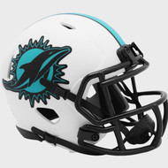 Miami Dolphins Lunar White Revolution Speed Mini Football Helmet