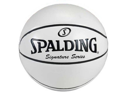 SPALDING ALL WHITE AUTOGRAPH FULL SIZE SIGNATURE SERIES BASKETBALL